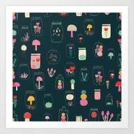 Art Print featuring Happy Terrarium Pattern by SARA BREZZI