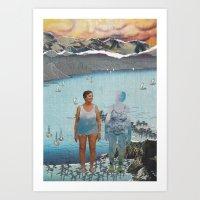 Women Of Sky Water Art Print