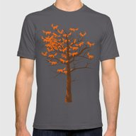 Blazing Fox Tree Mens Fitted Tee Asphalt SMALL