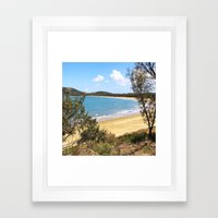 Idyllic tropical beach Framed Art Print