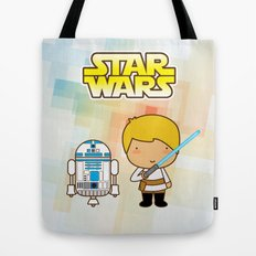 Luke Skywalker and R2D2 Tote Bag
