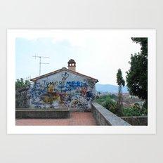Arezzo Graffiti Art Print