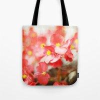 Scarlet Begonias Tote Bag