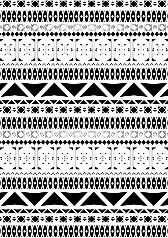 Black & White Pattern Art Print