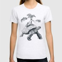 Tortoise Tree - Growth Womens Fitted Tee Ash Grey SMALL