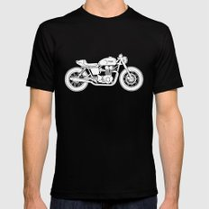 Triumph Bonneville - Cafe Racer series #3 Mens Fitted Tee Black SMALL