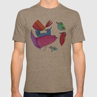gossipy birds Mens Fitted Tee Tri-Coffee SMALL