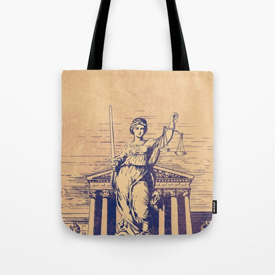 The Skulls of Justice Tote Bag