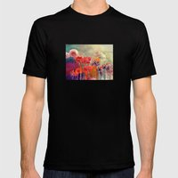 Allium Mens Fitted Tee Black SMALL