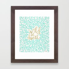 Wild At Heart – Turquo… Framed Art Print