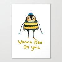Wana Bee On You! Canvas Print