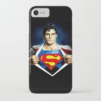 superman iPhone & iPod Cases featuring Superman by DavinciArt