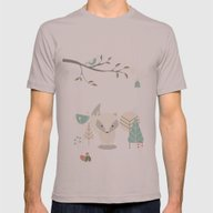 Christmas Baby Fox 07 Mens Fitted Tee Cinder SMALL