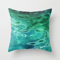 Water / H2O #67 (Water Abstract) Throw Pillow