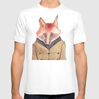 Brer Fox Mens Fitted Tee White SMALL