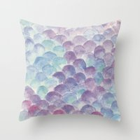 purple scales Throw Pillow