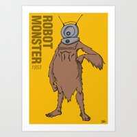 Robot Monster (1953) - 5… Art Print