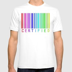 Gay Certified White Mens Fitted Tee SMALL