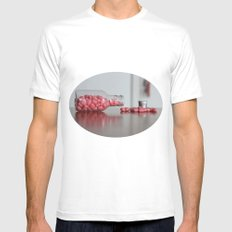 Heart Drops SMALL White Mens Fitted Tee