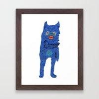 El Monstro Azul Framed Art Print