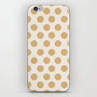 Glittering Gold Dots iPhone & iPod Skin