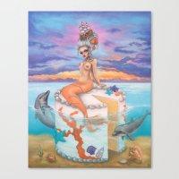 Marie Antionette Mermaid  Canvas Print