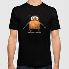 Funny Undroid Robot Black Mens Fitted Tee SMALL
