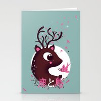 La Biche Et L'oiseau Stationery Cards