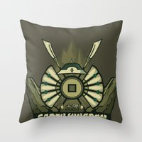 Avatar Nations Series - Earth Kingdom Throw Pillow