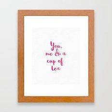You, me & a cup of tea Framed Art Print