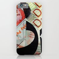 Abstract Newspaper iPhone 6 Slim Case