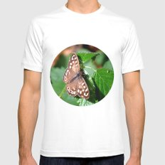 Butterfly Moments Mens Fitted Tee SMALL White