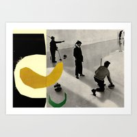 YELLOWCURL Art Print