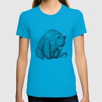 Bear Womens Fitted Tee Teal SMALL
