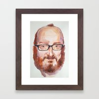 Portrait of Brian Posehn Framed Art Print