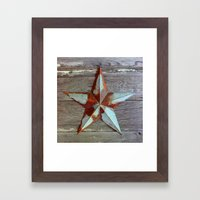 Primitive Rusty Star Framed Art Print
