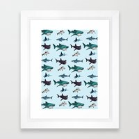 Shark Cage Framed Art Print