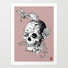 Skull one B Art Print
