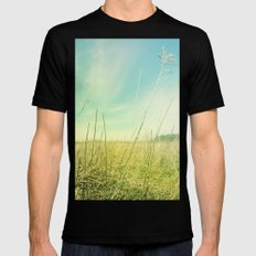 Out to Pasture Mens Fitted Tee Black SMALL