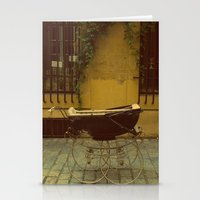 Vintage Baby Carriage in Aix in Provence, France Stationery Cards