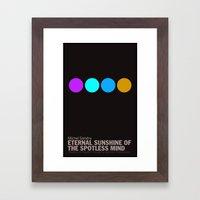 Eternal Sunshine of a Spotless Mind | Minimalist Movie Poster Framed Art Print