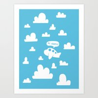 Hi there! Art Print