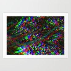 Tri-Chrome Separation  Art Print