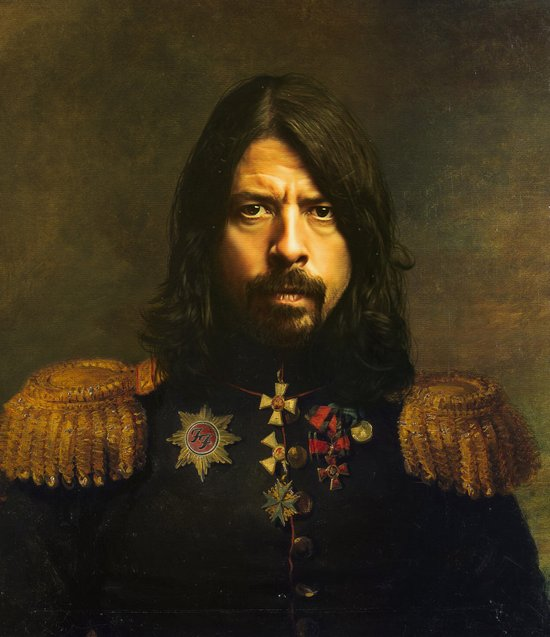Dave Grohl - replaceface Canvas Print