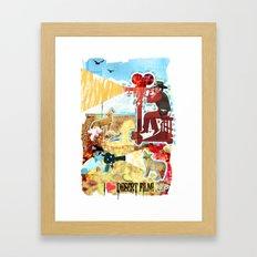 I HEART DESERT FILM Framed Art Print