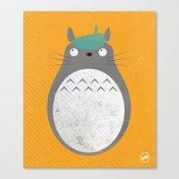 Homenaje a Totoro Canvas Print