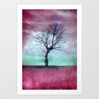 ATMOSPHERIC TREE - Winte… Art Print