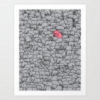 Word 2 The Herd V1 Art Print