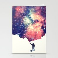 hipster Stationery Cards featuring Painting the universe by badbugs_art