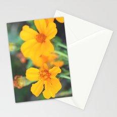 orange flowers. Stationery Cards